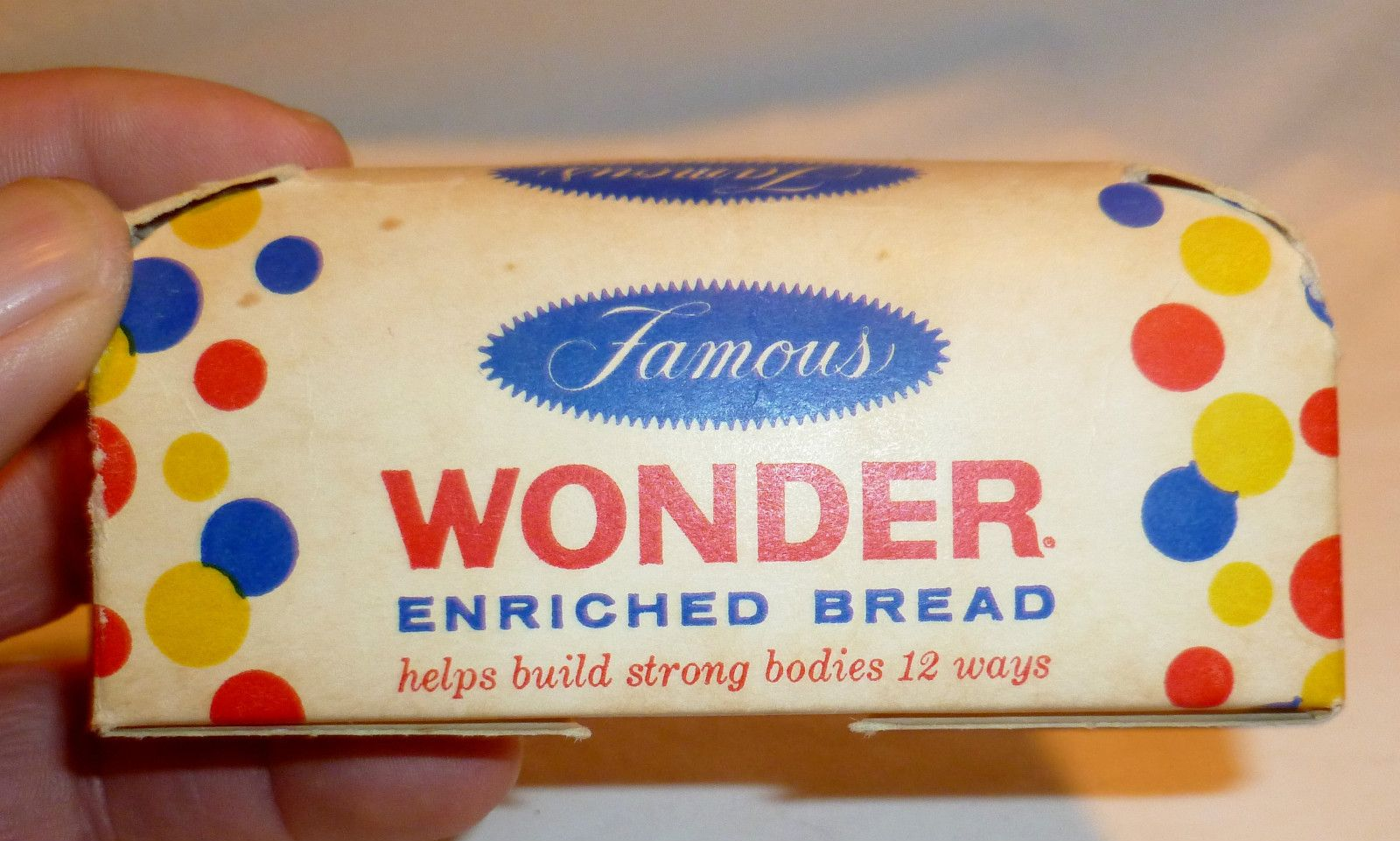 Unused Rare Vintage Nabisco Millbrook Bread Cardboard Bank Diecut Cardboard
