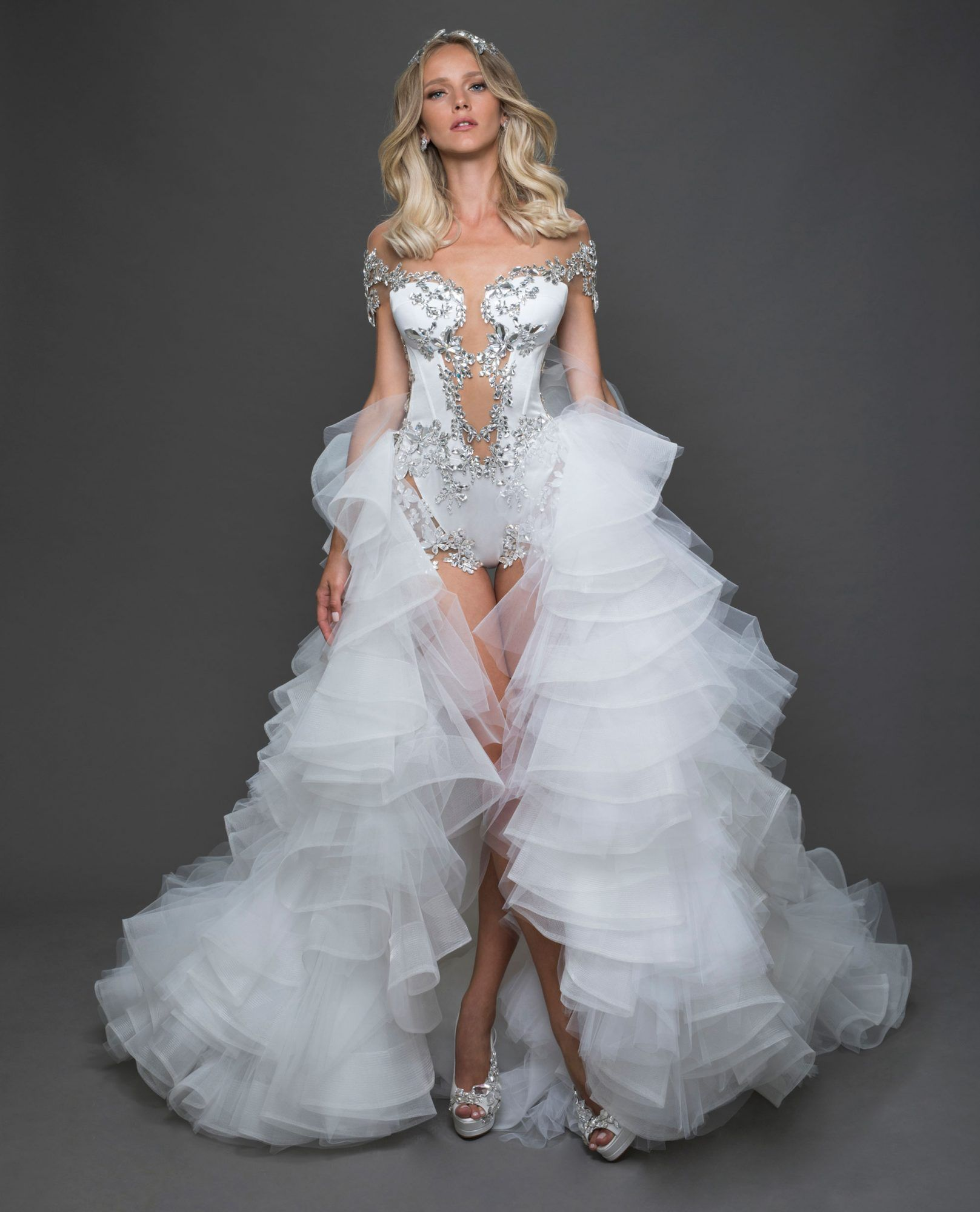 The Best Short Wedding Dresses From Bridal Fashion Week Pnina Tornai Wedding Dress Wedding Dresses Short Wedding Dress [ 2000 x 1617 Pixel ]