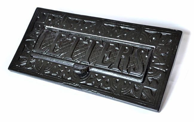 victorian kenrick letterplate lovely large cast iron letterplate with weighted letters flap for flip