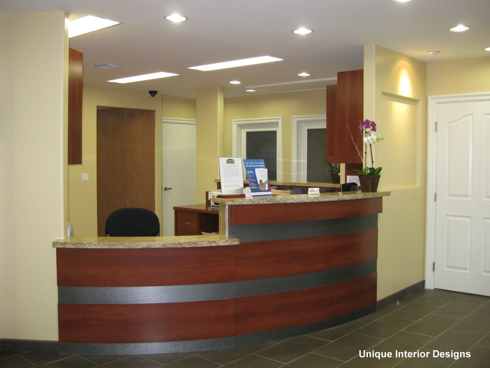 Front Desk Reception Area White Office Decor Medical Office