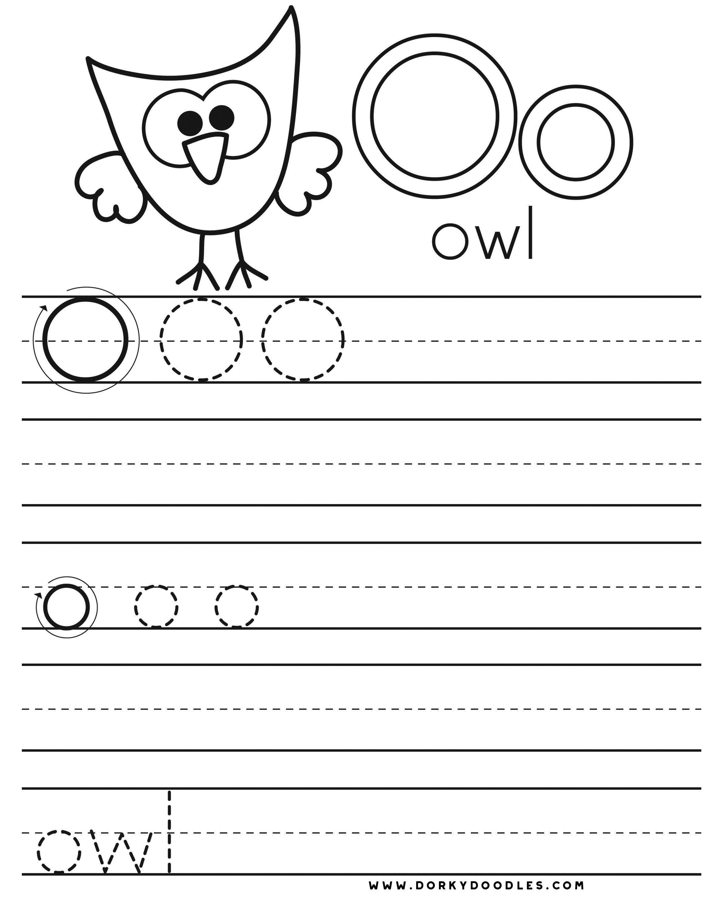 Letter O Writing Worksheets