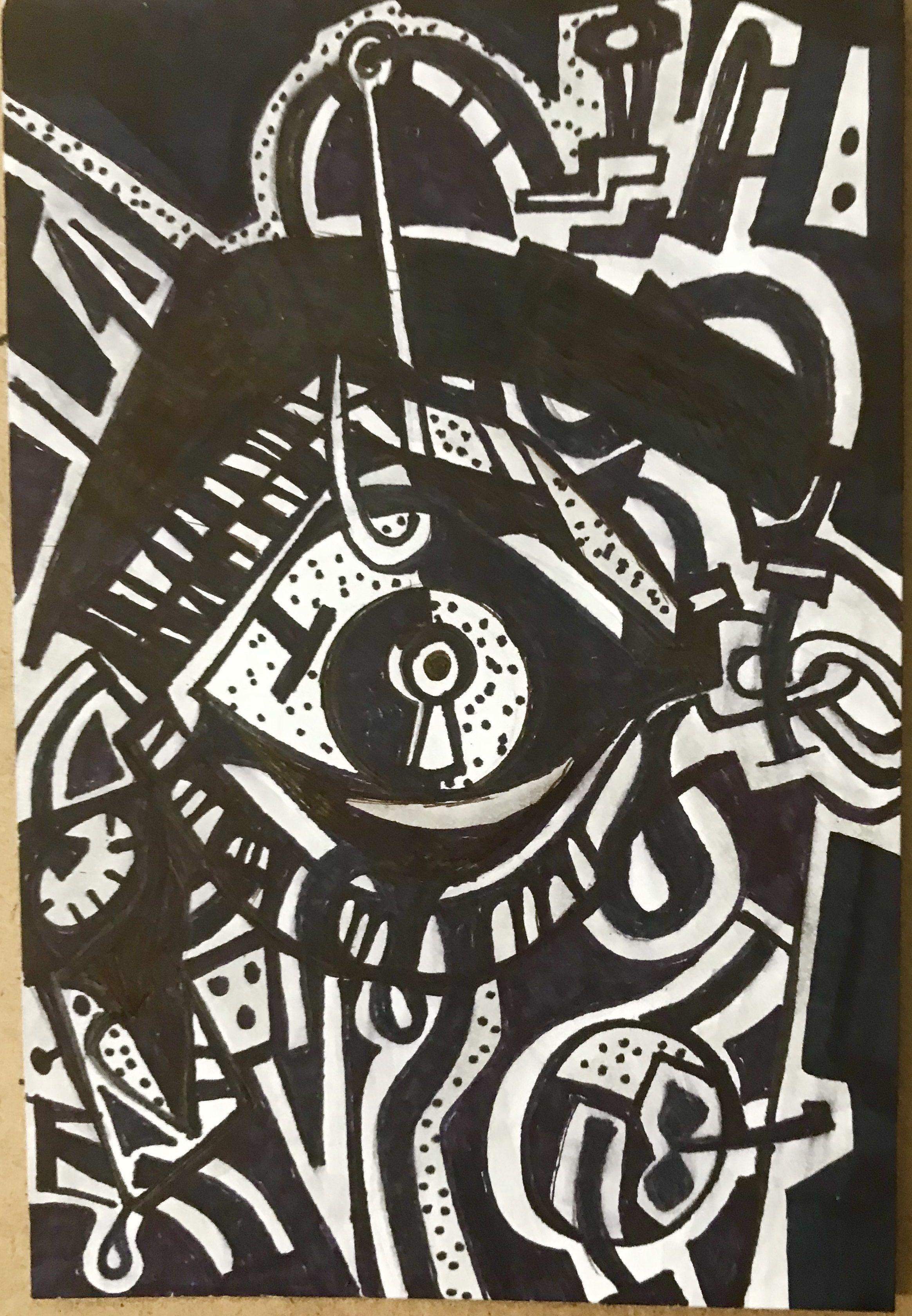 Open Your Eyes Abre Los Ojos 6 X 4 Sharpie Los Ojos