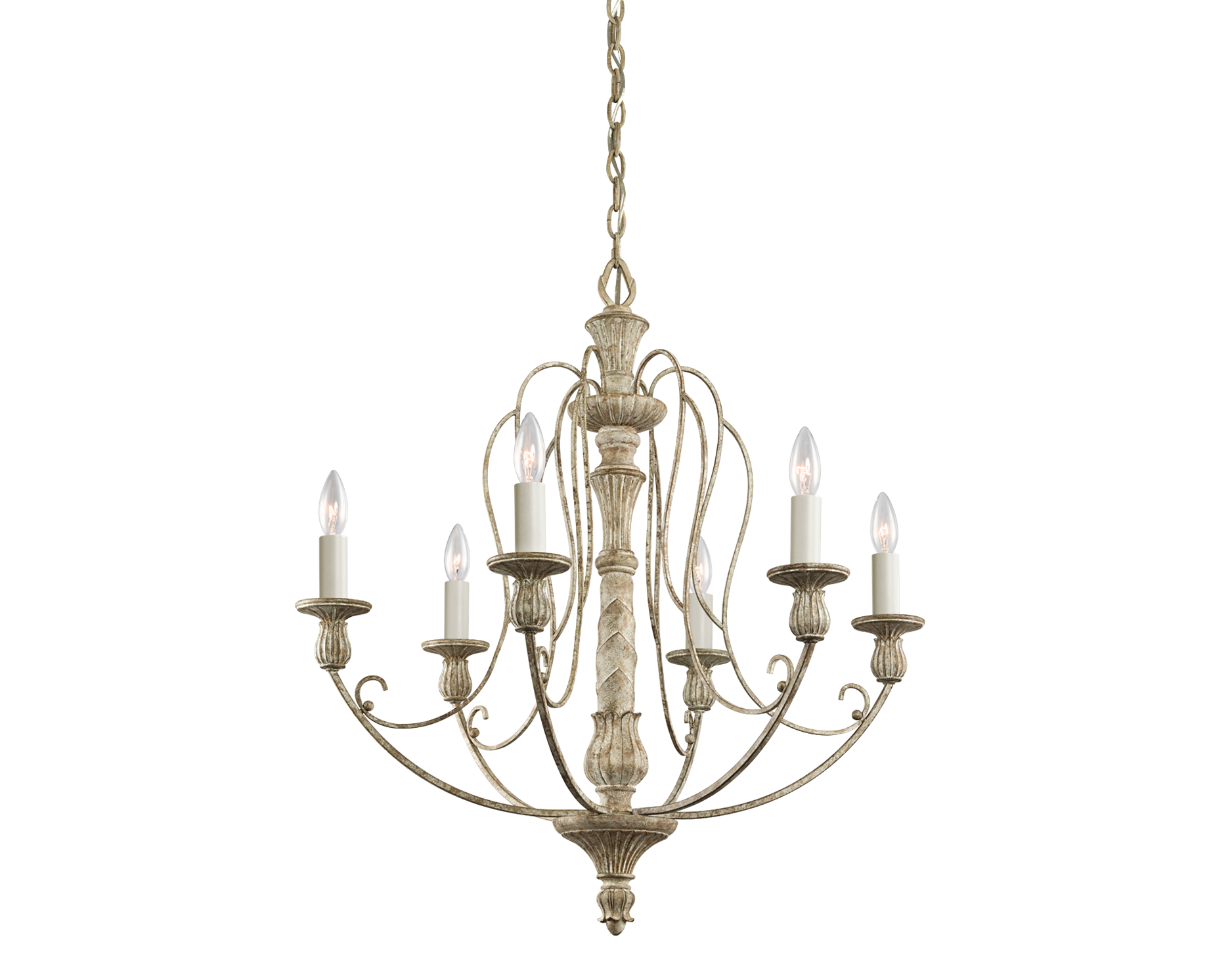 KICHLER Hayman Bay 6 Light Chandelier in Distressed Antique