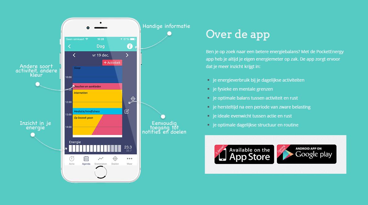 De PocketEnergy app is vanaf maandag 5 januari 2015 verkrijgbaar in de App Store en niet veel later ook in Google Play. De app gaat €3,59 kosten, maar is de eerste twee weken na introductie gratis te downloaden!
