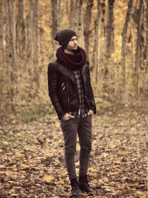 Moda Masculina bufanda gorro chaqueta