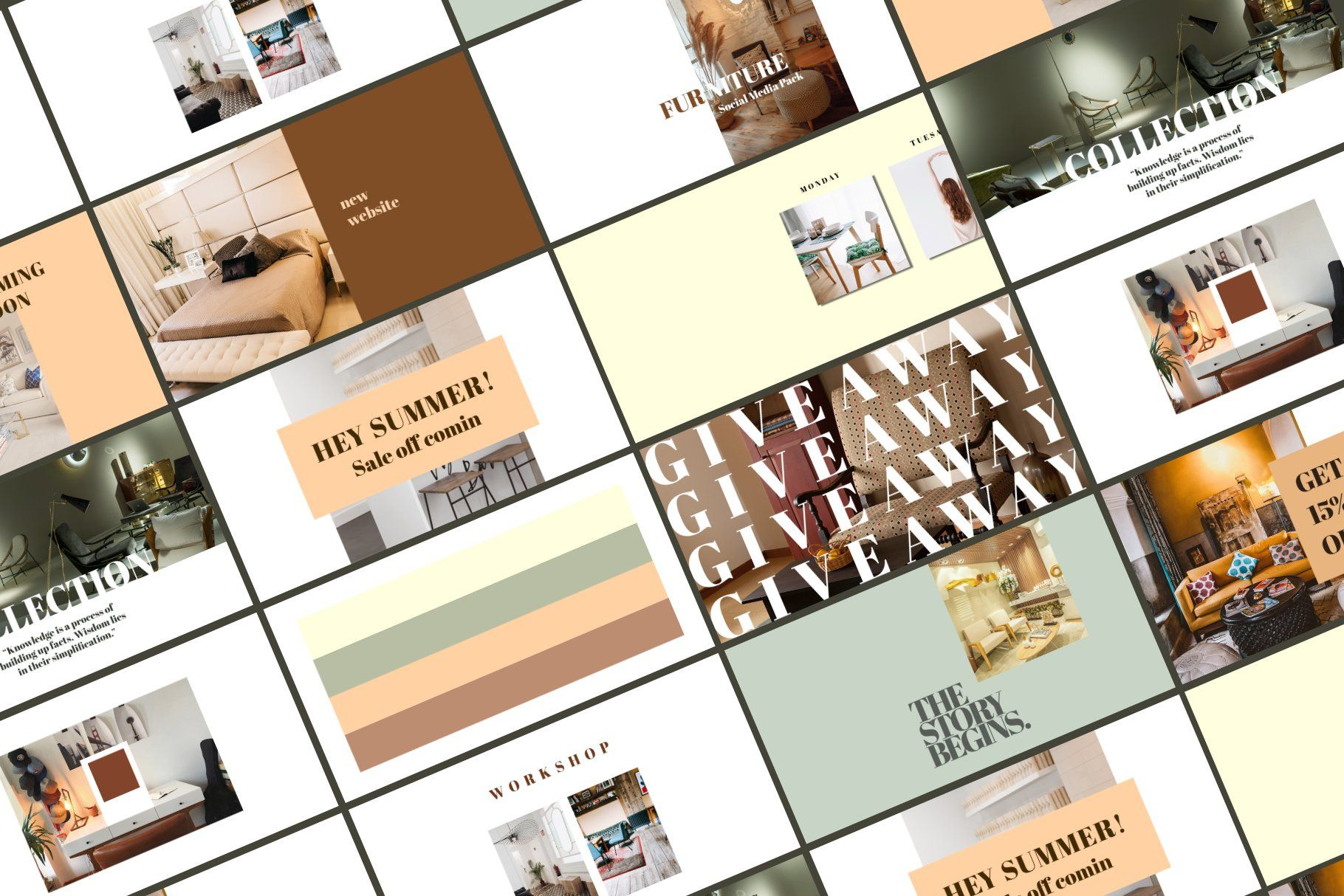 Photo of Muebles Social Media Pack por RedRiver Studio en Creative Market