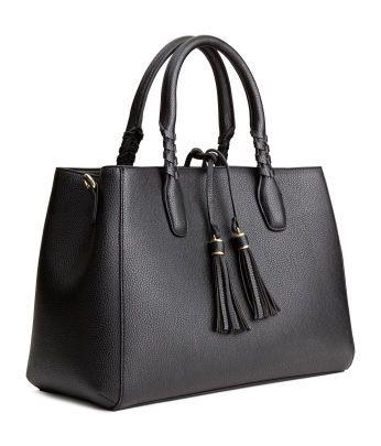 damen accessoires taschen meine auswahl h m de taschen taschen handtasche schwarz. Black Bedroom Furniture Sets. Home Design Ideas
