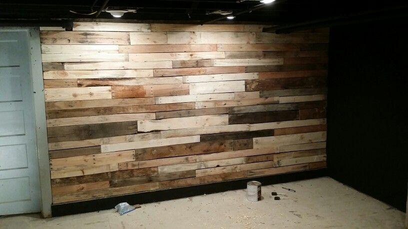 Pallet wall | Pallet wall, Hardwood, Wood