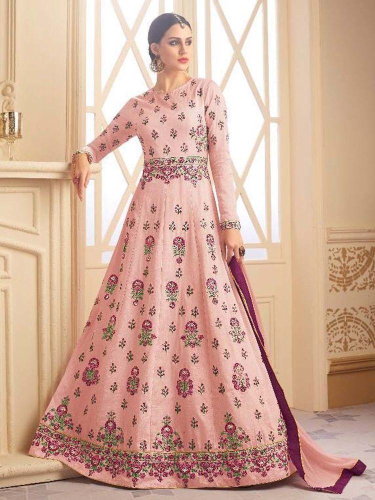 New Indian Floor length Party wear Anarkali Salwar Kameez for women ...