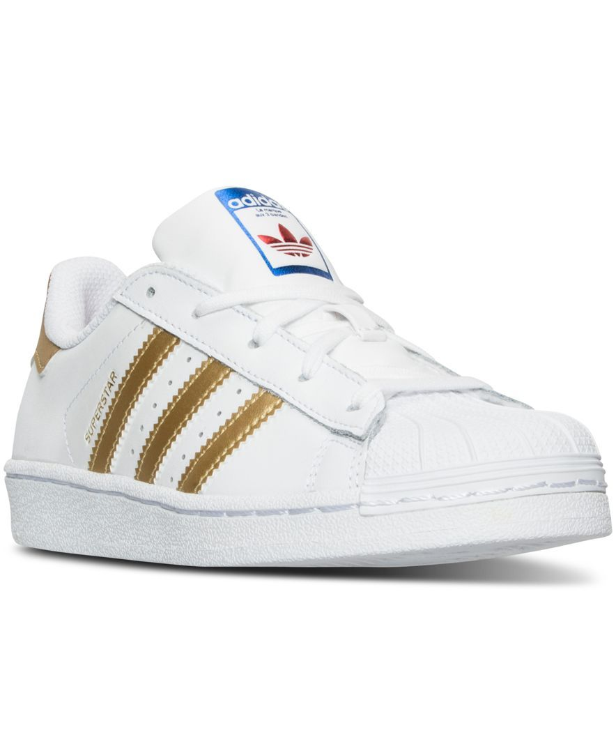 Adidas Little Girls Superstar Sneakers From Finish Line Nikes In