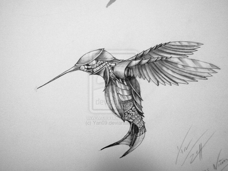 My Mechanical Hummingbird Tatt By Yan09 On Deviantart Bird