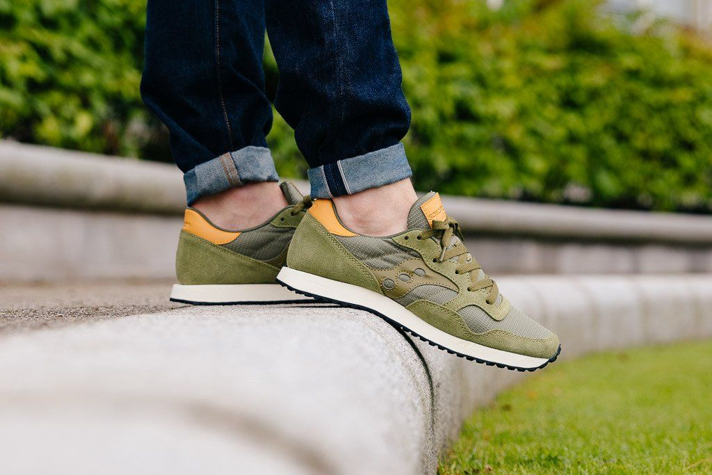 8b1042449 Saucony DXN Trainer Olive S70124-52 - soleheaven digital - 4 | own ...