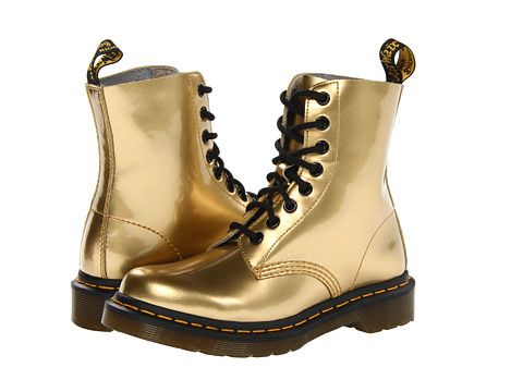 Dr. Martens Pascal 8 Eye Boot W Gold Spectra Patent
