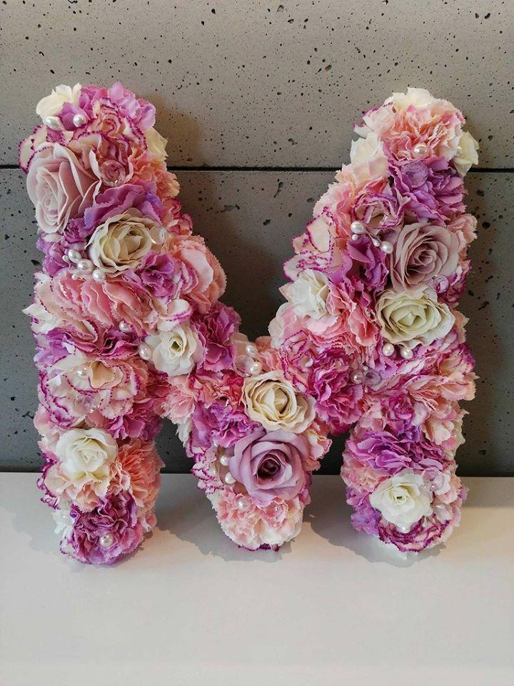 Litera Dekoracyjna Kwiaty Roze Dekoracje Slub Chrzest Komunia Holidays And Events Event Holiday