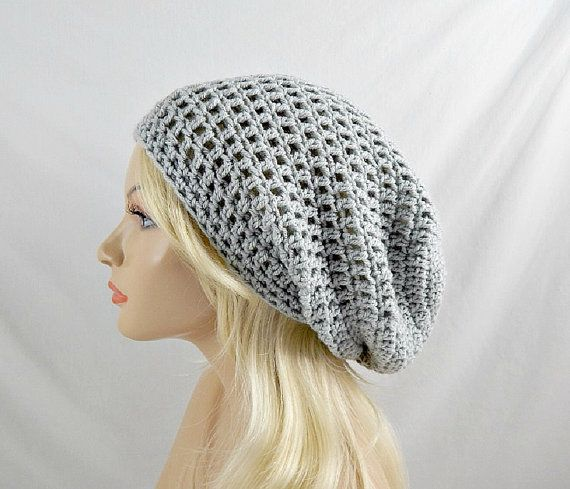 Light Grey Slouchy Beanie dfc097170
