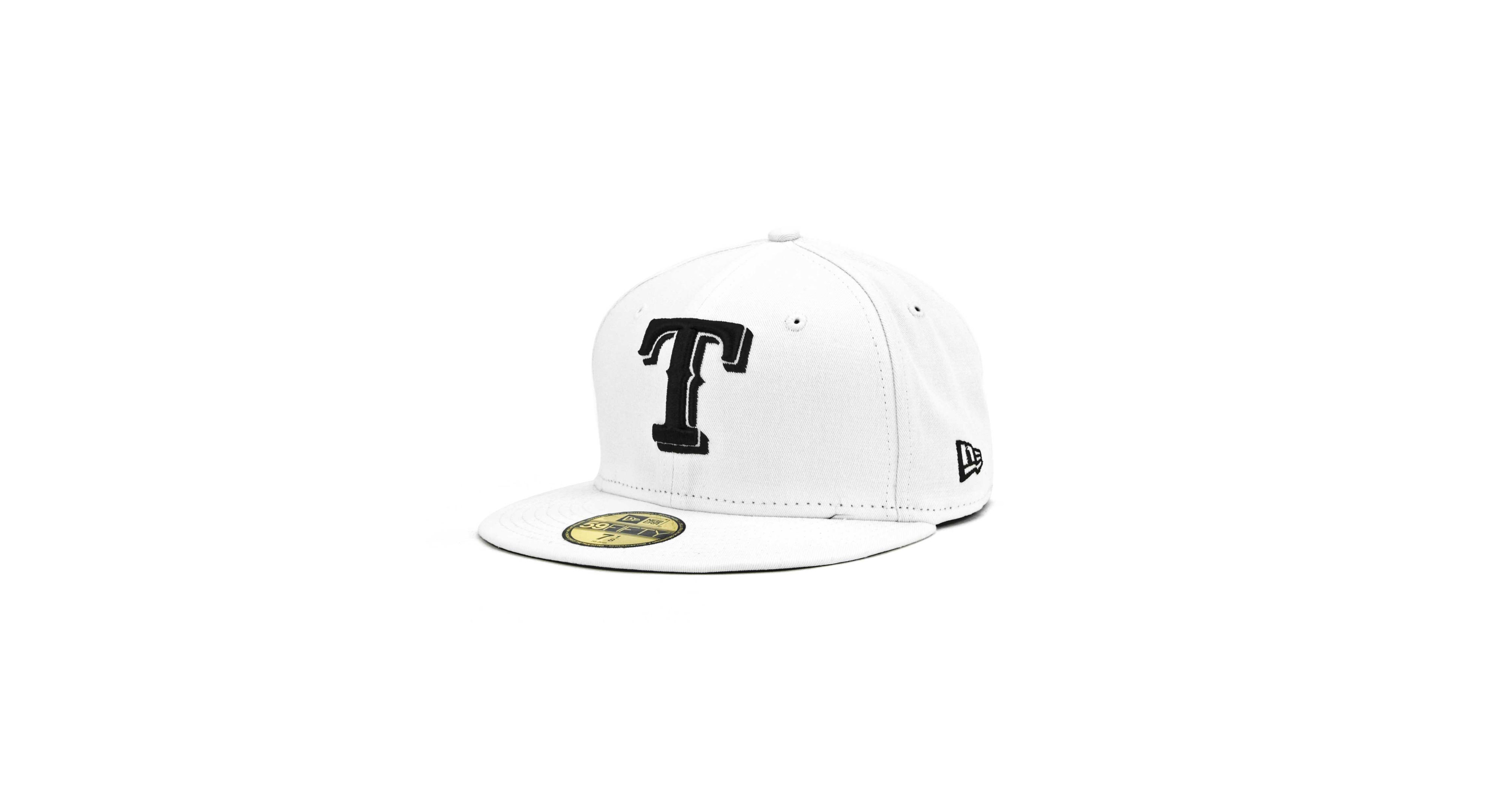 huge discount 08044 d5038 New Era Texas Rangers Mlb White And Black 59FIFTY Cap