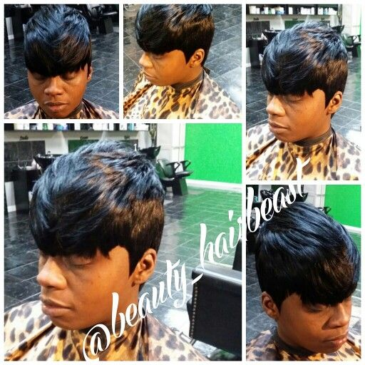 Quickweave 27 Piece With Bangs Edgy Short Hair Edgy Hair 27 Piece Hairstyles