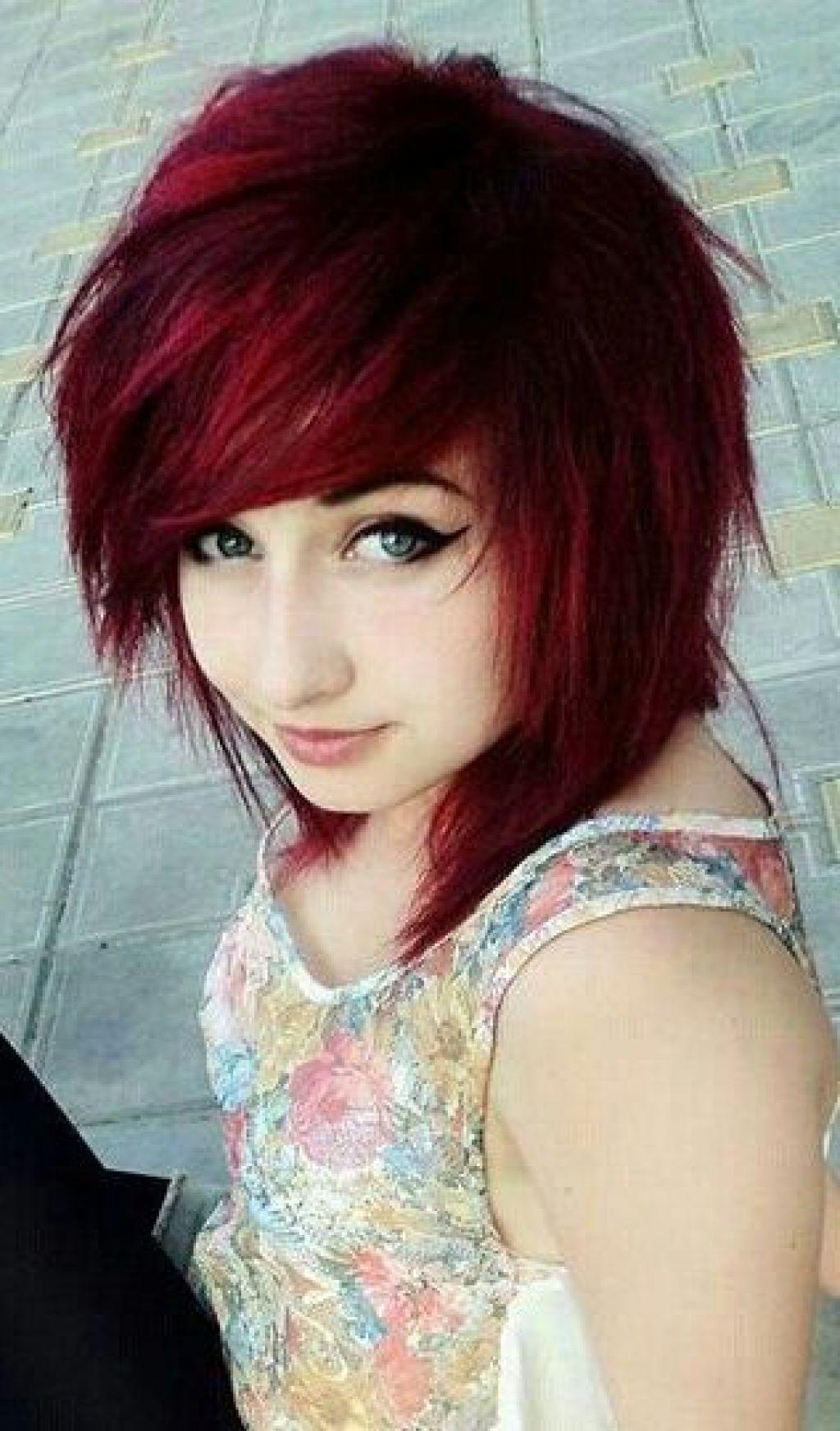 medium length choppy emo hair cuts