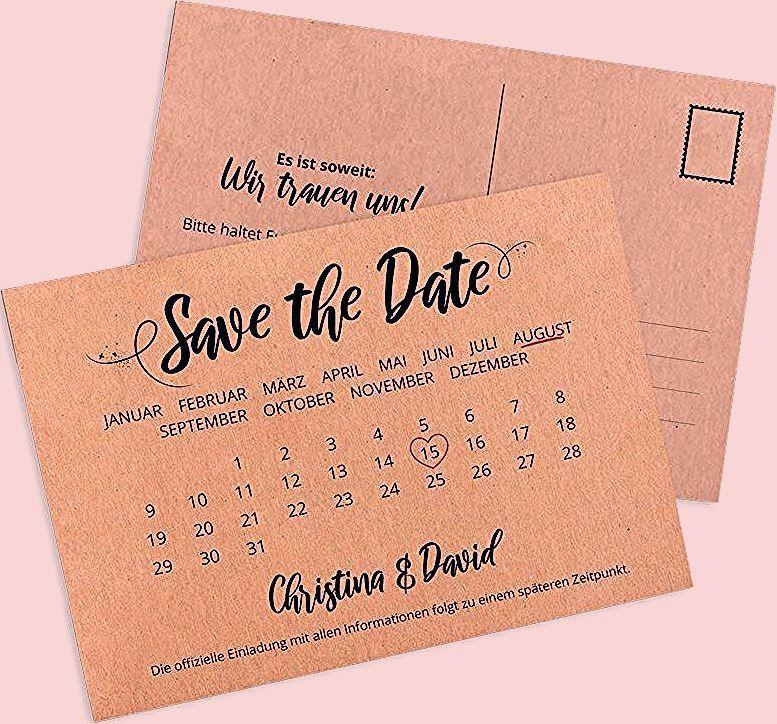 Photo of Save the Date Karte mit Kalender: im Vintage Look bestellen!