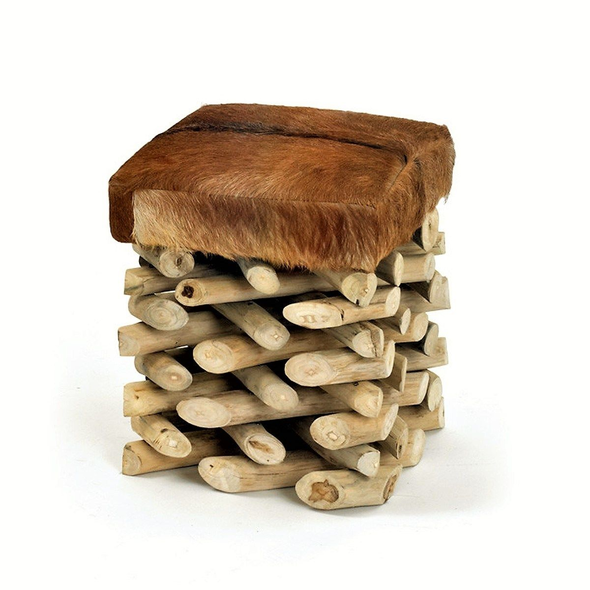 Short Wooden Stool - Rustic Log Stool with Hair in Hide Seat  sc 1 st  Pinterest & Short Wooden Stool - Rustic Log Stool with Hair in Hide Seat ... islam-shia.org