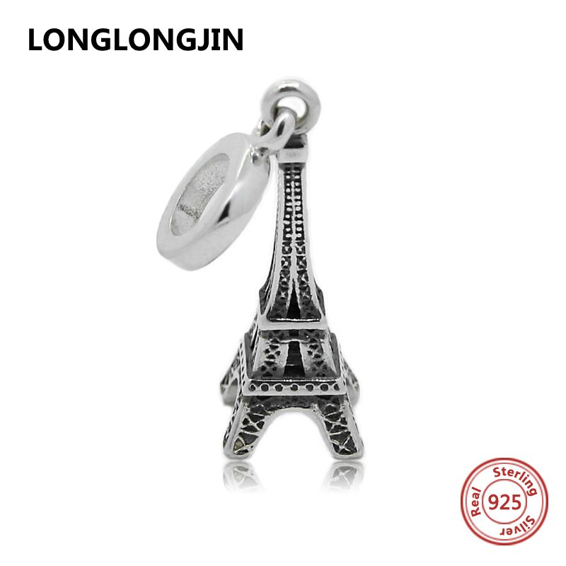 17441343d 925 Sterling Silver Eiffel Tower Charm Beads Fit Pandora Bracelet Berloque  Pendant Authentic Fine Jewelry Women Christmas Gift #ChristmasGifts