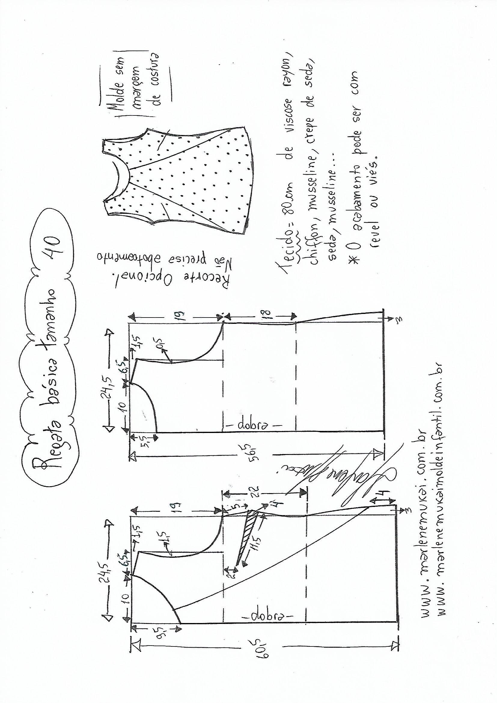 Blusa Regata simples com recorte | Patrones, Costura y Adornos de ...