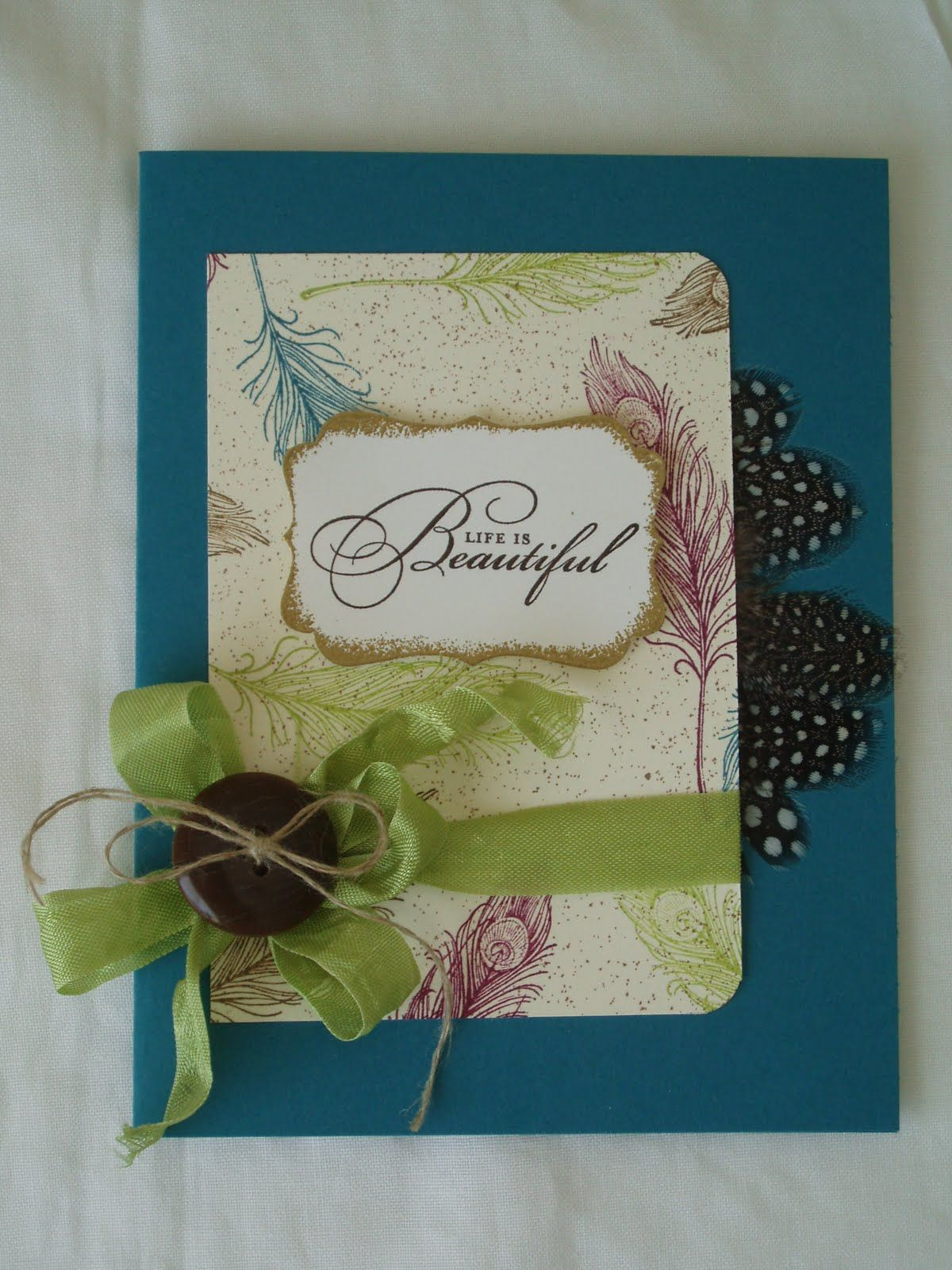 Life is Beautiful Card by @Becky Foster-Cowley