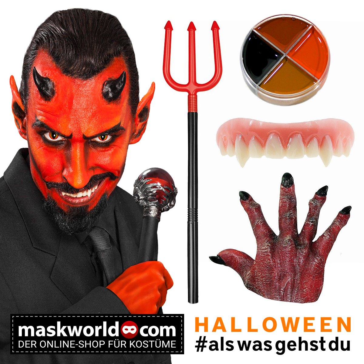 ROTE TEUFELSHÖRNER Halloween Karneval Fasching Teufel Satan Dämon Hörner