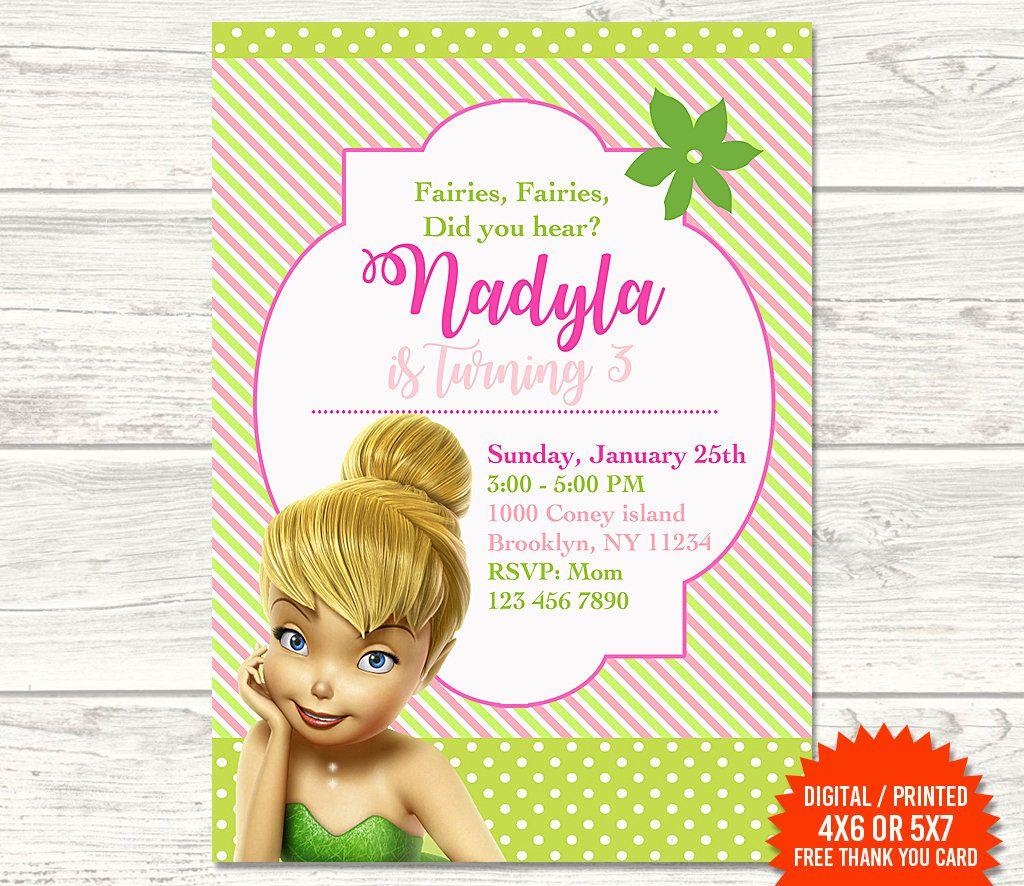 Tinkerbell Invitation Fairy Invitation Tinkerbell Birthday Tinkerbell Fairy Printable Invita Tinkerbell Invitations Fairy Invitations Printable Invitations