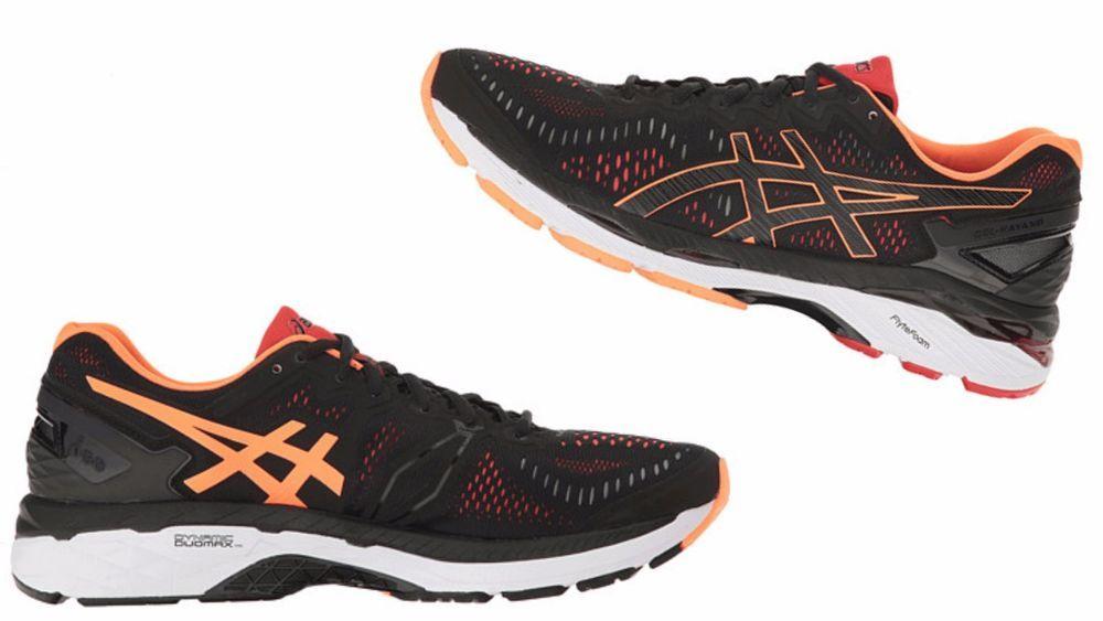 sale retailer c1747 6a636 ASICS Men's Gel KAYANO 23 Black/Hot Orange/Vermilion T646N ...