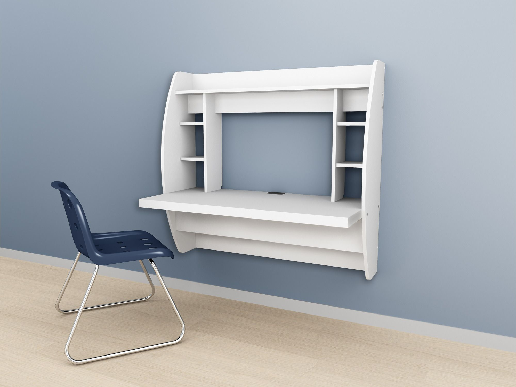 I Am Thinking We Might Get This For The Kids Study Space. Prepac White Floating  Desk With Storage   Beyond The Rack