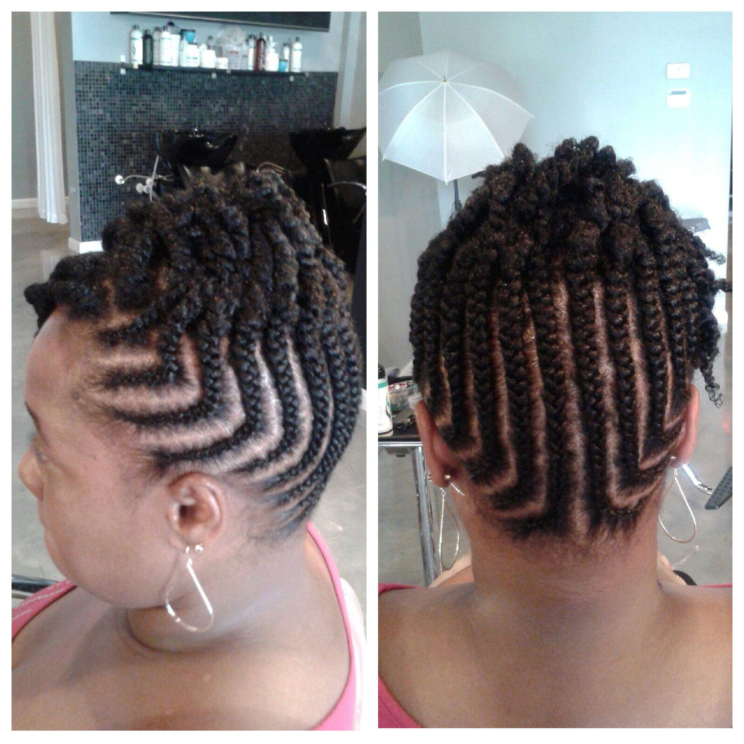 Natural hair braided updo by stylist jewels our werk pinterest