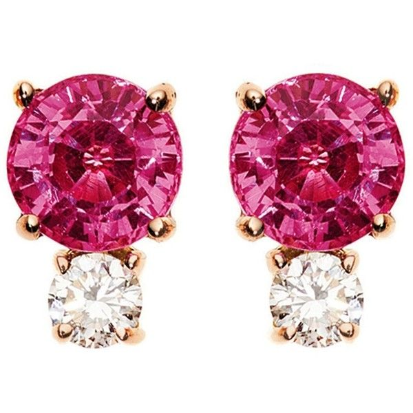 18-karat Rose Gold, Ruby And Diamond Earring - one size Jemma Wynne