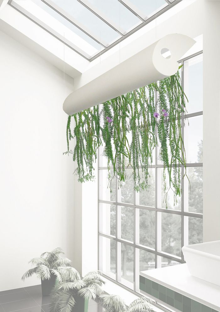 Phi luminaire et jardin suspendu cr par paul louis for Mur vegetal suspendu