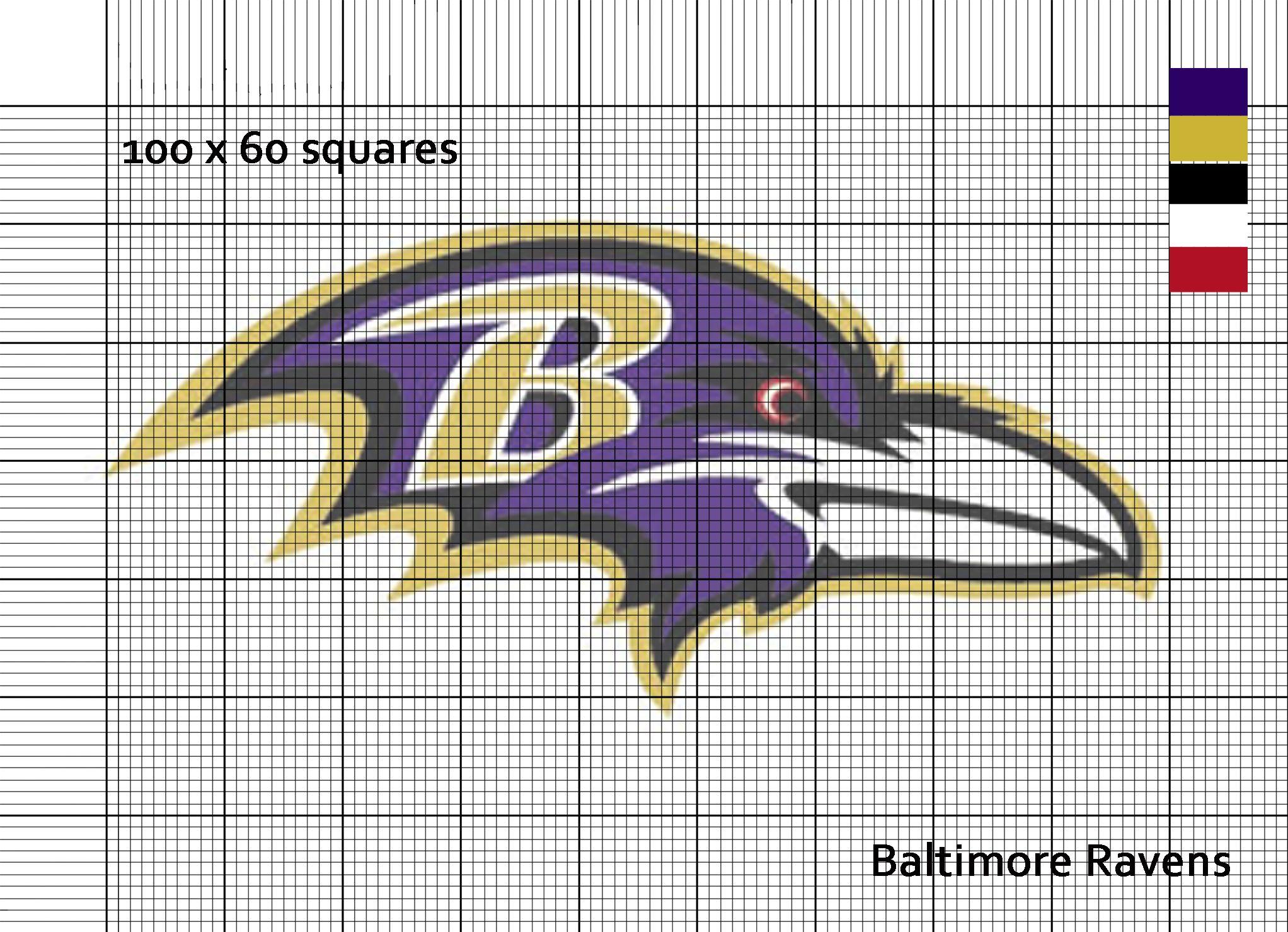 Baltimore Ravens Nfl Logo Cross Stitch Pattern Sweet Cross Stitch Cross Stitch Patterns Cross Stitching