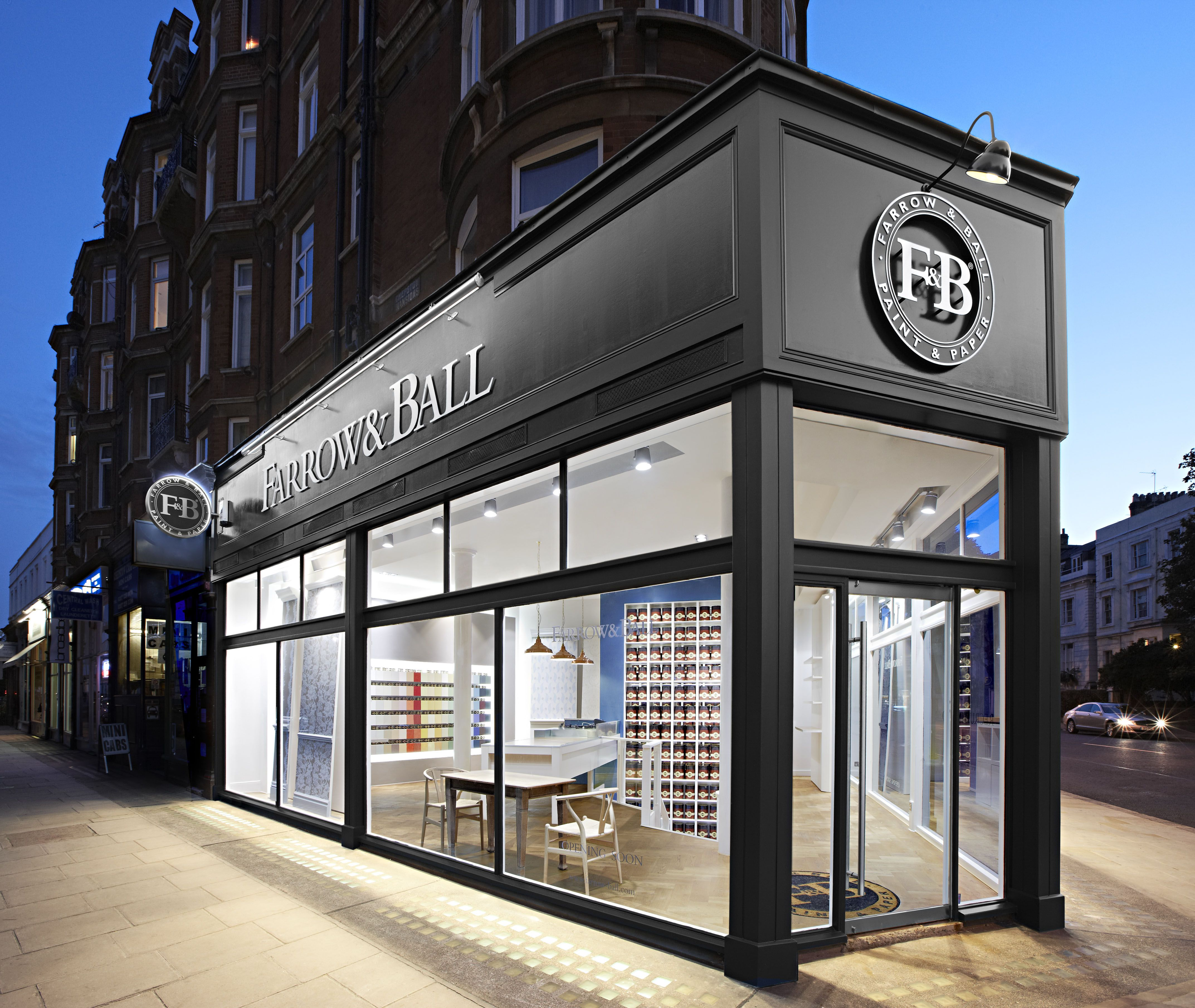 Four Ways To Better Interior Design Installations: Exterior Of Farrow & Ball's Notting Hill Showroom In