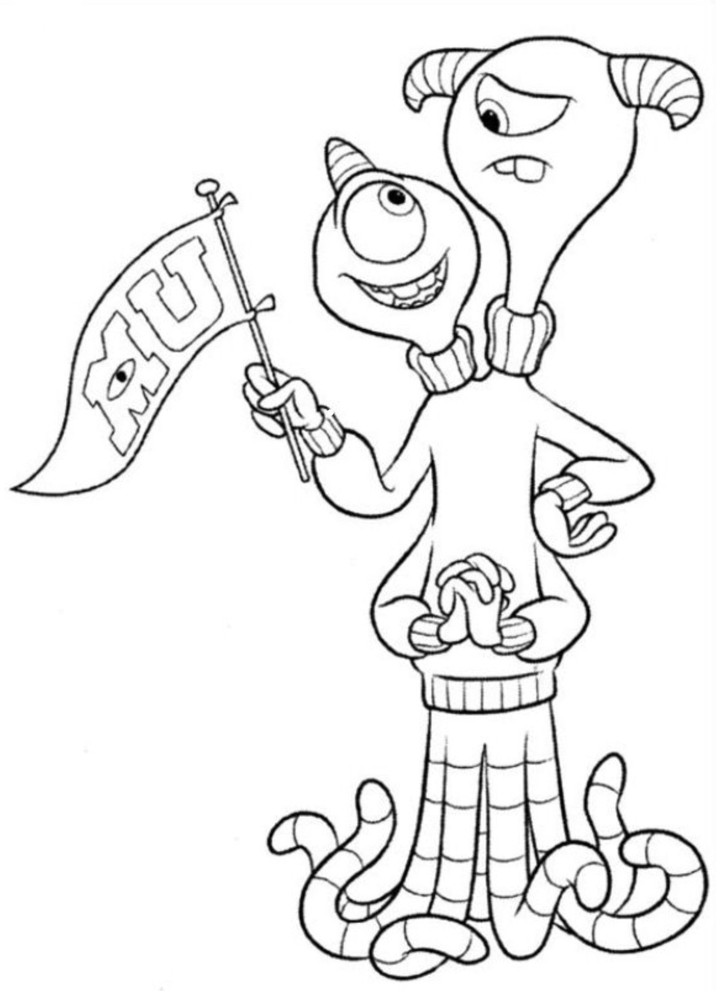 Pin By Jada Chan On Coloring Monster Coloring Pages Disney Coloring Pages Cinderella Coloring Pages