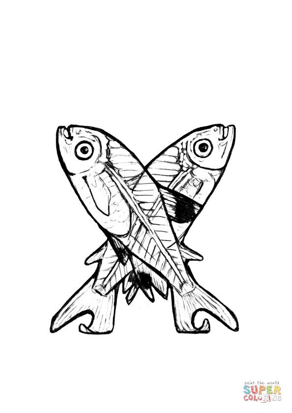 X Is For X Ray Fish Coloring Page From Animals Alphabet Category Select From 27889 Printable C Fish Coloring Page Coloring Pages Free Printable Coloring Pages