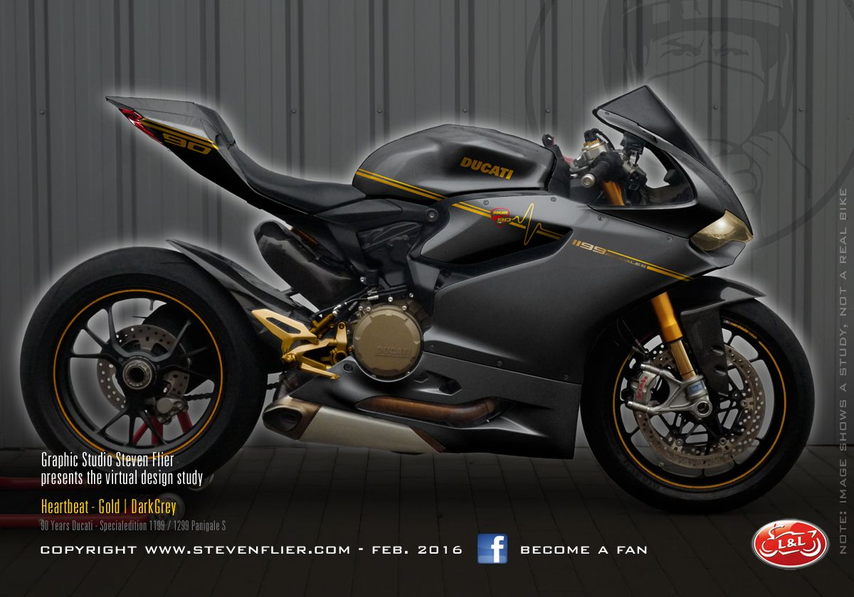 Virtual Tuning Ducati Panigale 1199 / 1299 - Heartbeat Grey - Client