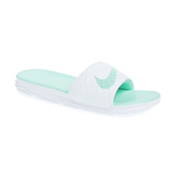 5752421c6dea5f Women s Nike  Benassi Solarsoft 2  Slide Sandal (47 CAD) ❤ liked on  Polyvore featuring shoes