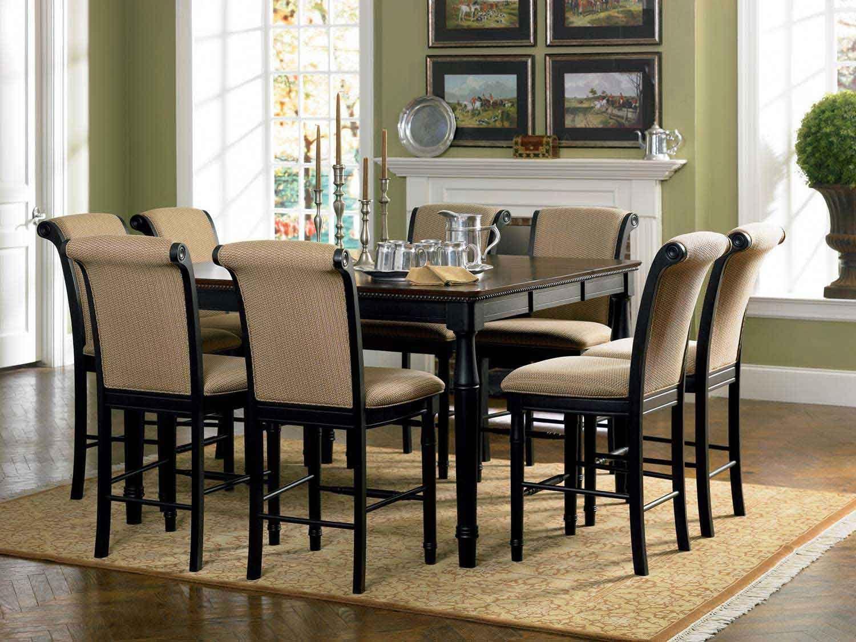 Coaster Cabrillo Counter Height Dining Set - Black-Amaretto | For ...