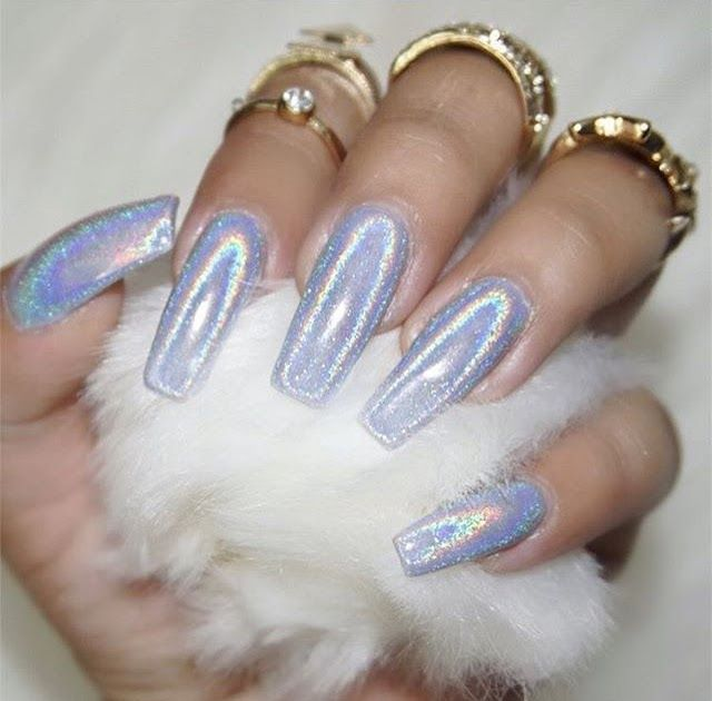Frosty winter nails hi guys today i have this gorgeous holographic winter mani t...