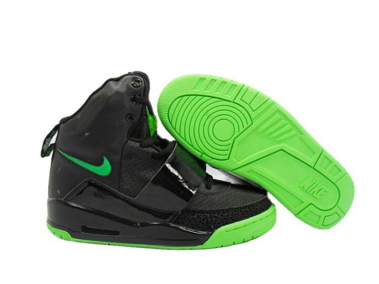Nike Air Yeezy 1 I Men Basketball Shoes Green Black