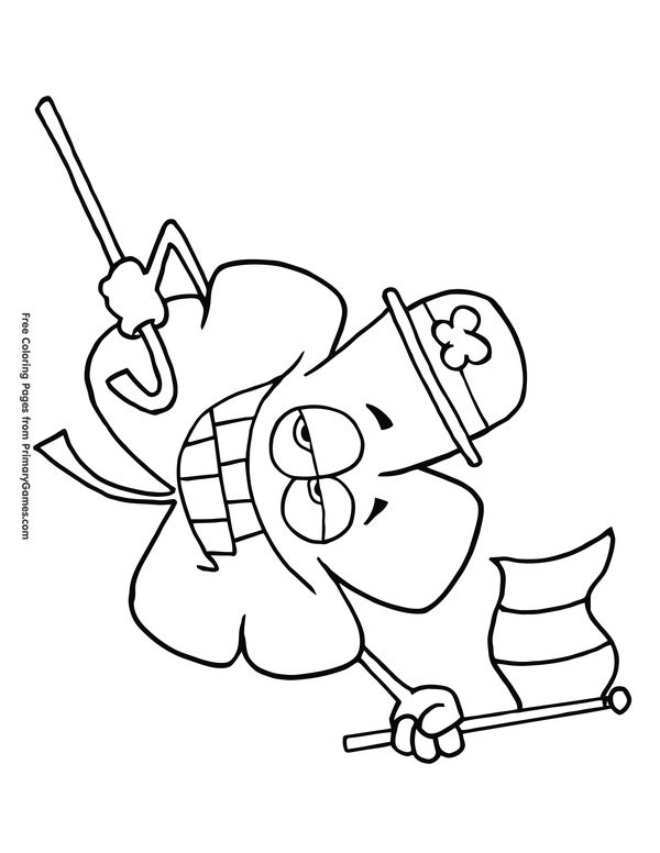 Shamrock Coloring Page In 2020 Coloring Pages Irish Symbols Celtic Coloring