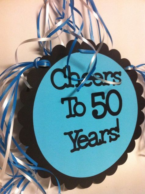 50th Birthday Decorations Giant Personalized Party By FromBeths