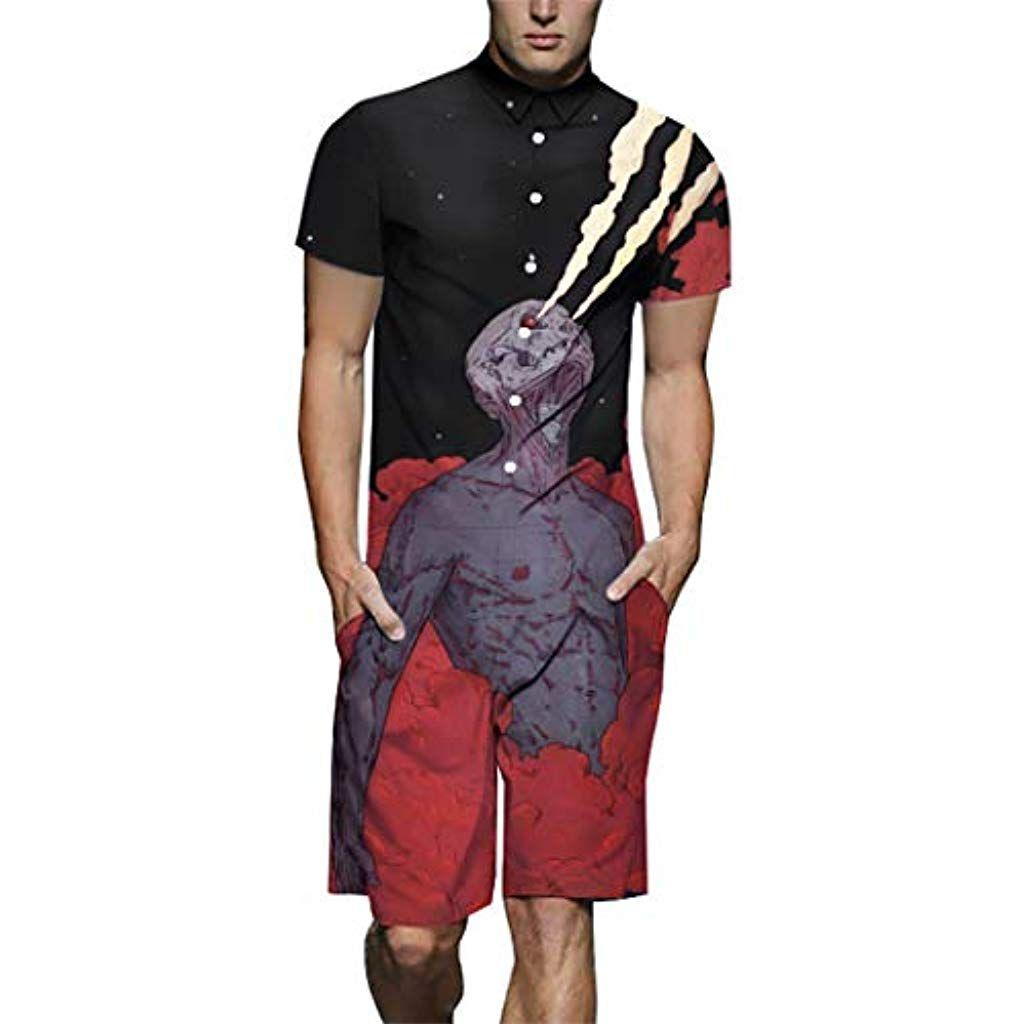 design de qualité c8551 0104f HANMAX DXLT812005# Barboteuses Combinaison Short Homme Mode ...