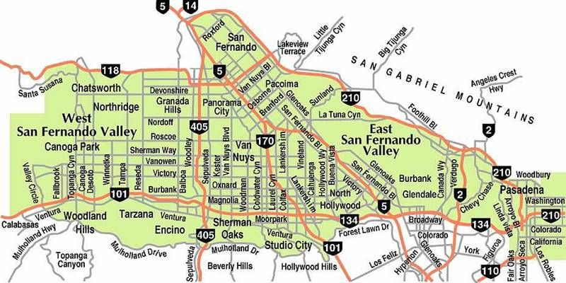 Someday    (a map of the San Fernando Valley) | City of Angels | San