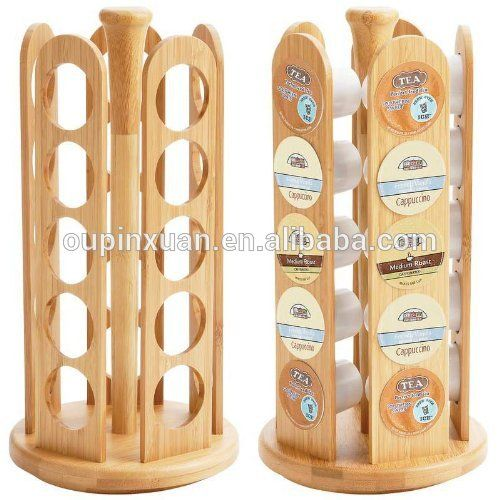 2015 New Design Bamboo Rack For K Cup Coffee Pod Holder Difference