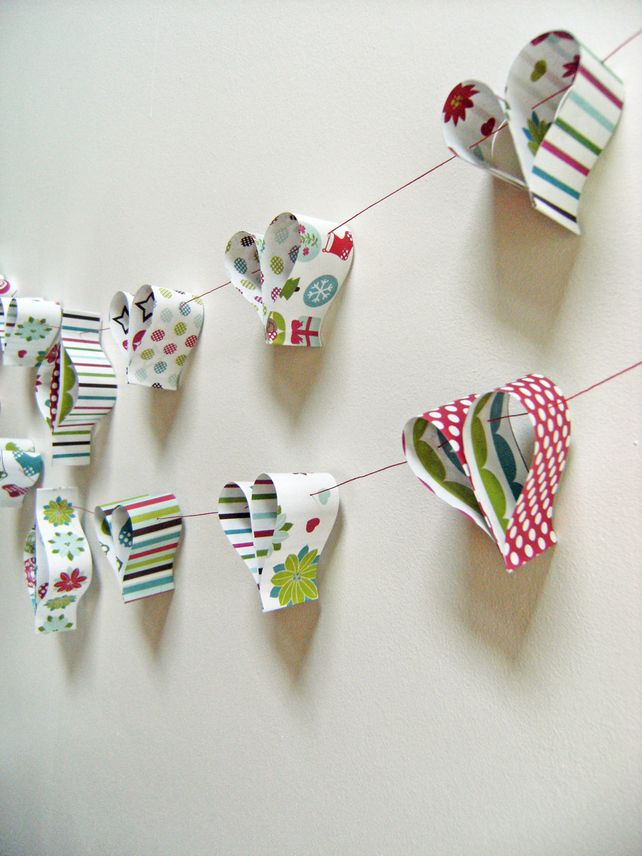Christmas Bunting Decorations Love this really simple idea!!