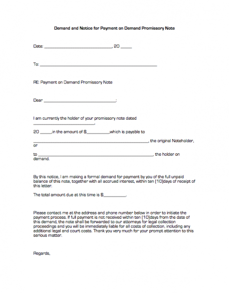 Sample Promissory Note. Printable Sample Promissory Note Sample Form ...